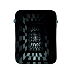 Optical Illusion Square Abstract Geometry Apple Ipad 2/3/4 Protective Soft Cases by Simbadda