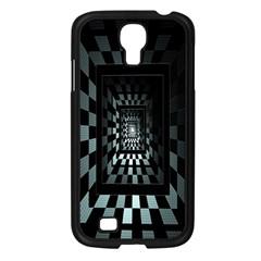 Optical Illusion Square Abstract Geometry Samsung Galaxy S4 I9500/ I9505 Case (black) by Simbadda