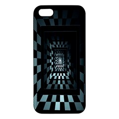 Optical Illusion Square Abstract Geometry Iphone 5s/ Se Premium Hardshell Case by Simbadda