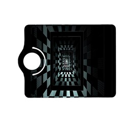Optical Illusion Square Abstract Geometry Kindle Fire Hd (2013) Flip 360 Case by Simbadda