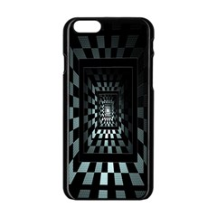 Optical Illusion Square Abstract Geometry Apple Iphone 6/6s Black Enamel Case by Simbadda