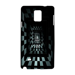 Optical Illusion Square Abstract Geometry Samsung Galaxy Note 4 Hardshell Case by Simbadda