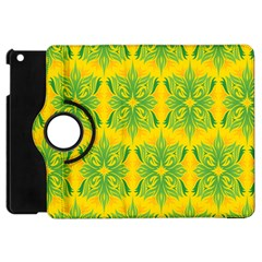 Floral Flower Star Sunflower Green Yellow Apple Ipad Mini Flip 360 Case by Alisyart