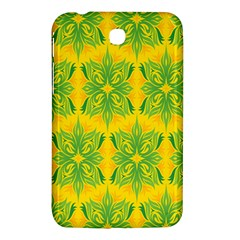 Floral Flower Star Sunflower Green Yellow Samsung Galaxy Tab 3 (7 ) P3200 Hardshell Case  by Alisyart