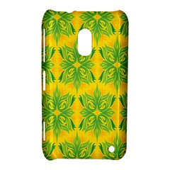 Floral Flower Star Sunflower Green Yellow Nokia Lumia 620 by Alisyart