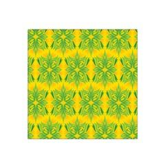 Floral Flower Star Sunflower Green Yellow Satin Bandana Scarf by Alisyart