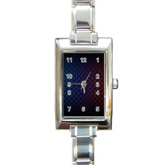 Hexagon Colorful Pattern Gradient Honeycombs Rectangle Italian Charm Watch by Simbadda