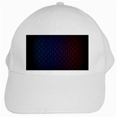Hexagon Colorful Pattern Gradient Honeycombs White Cap by Simbadda