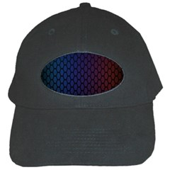 Hexagon Colorful Pattern Gradient Honeycombs Black Cap by Simbadda