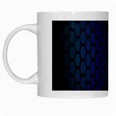Hexagon Colorful Pattern Gradient Honeycombs White Mugs by Simbadda