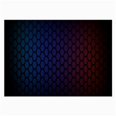 Hexagon Colorful Pattern Gradient Honeycombs Large Glasses Cloth (2 Side) by Simbadda