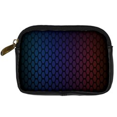 Hexagon Colorful Pattern Gradient Honeycombs Digital Camera Cases by Simbadda