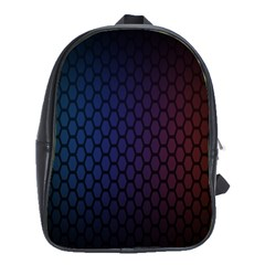 Hexagon Colorful Pattern Gradient Honeycombs School Bags(large)  by Simbadda