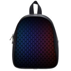 Hexagon Colorful Pattern Gradient Honeycombs School Bags (small)  by Simbadda