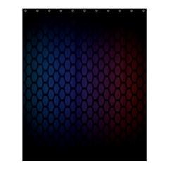Hexagon Colorful Pattern Gradient Honeycombs Shower Curtain 60  X 72  (medium)  by Simbadda