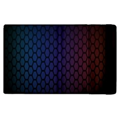 Hexagon Colorful Pattern Gradient Honeycombs Apple Ipad 2 Flip Case by Simbadda