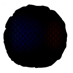 Hexagon Colorful Pattern Gradient Honeycombs Large 18  Premium Round Cushions by Simbadda