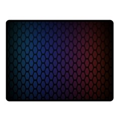 Hexagon Colorful Pattern Gradient Honeycombs Double Sided Fleece Blanket (small)  by Simbadda