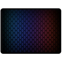 Hexagon Colorful Pattern Gradient Honeycombs Double Sided Fleece Blanket (large)  by Simbadda