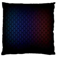 Hexagon Colorful Pattern Gradient Honeycombs Large Flano Cushion Case (two Sides) by Simbadda