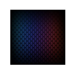 Hexagon Colorful Pattern Gradient Honeycombs Small Satin Scarf (square) by Simbadda