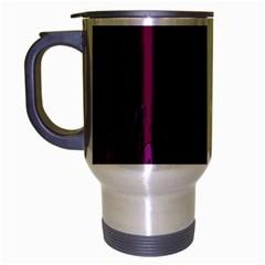 Abstract Purple Pattern Travel Mug (silver Gray) by Simbadda