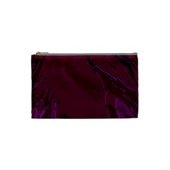 Abstract Purple Pattern Cosmetic Bag (small)  by Simbadda