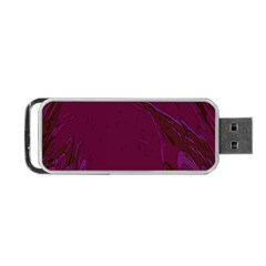 Abstract Purple Pattern Portable Usb Flash (two Sides) by Simbadda