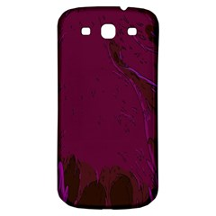 Abstract Purple Pattern Samsung Galaxy S3 S Iii Classic Hardshell Back Case by Simbadda