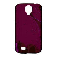 Abstract Purple Pattern Samsung Galaxy S4 Classic Hardshell Case (pc+silicone)
