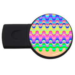 Dna Early Childhood Wave Chevron Woves Rainbow Usb Flash Drive Round (2 Gb) by Alisyart