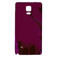 Abstract Purple Pattern Galaxy Note 4 Back Case by Simbadda
