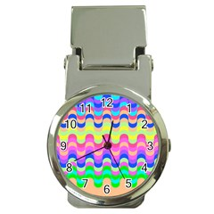 Dna Early Childhood Wave Chevron Woves Rainbow Money Clip Watches by Alisyart