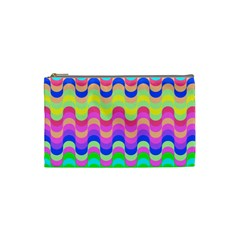 Dna Early Childhood Wave Chevron Woves Rainbow Cosmetic Bag (small)  by Alisyart