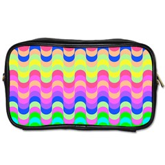 Dna Early Childhood Wave Chevron Woves Rainbow Toiletries Bags 2 Side by Alisyart