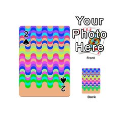 Dna Early Childhood Wave Chevron Woves Rainbow Playing Cards 54 (mini)  by Alisyart