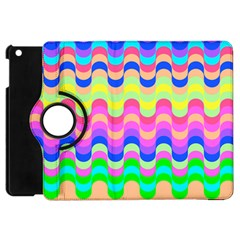 Dna Early Childhood Wave Chevron Woves Rainbow Apple Ipad Mini Flip 360 Case by Alisyart