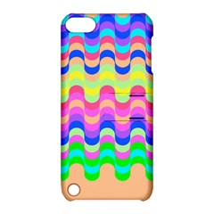 Dna Early Childhood Wave Chevron Woves Rainbow Apple Ipod Touch 5 Hardshell Case With Stand by Alisyart