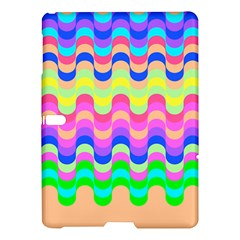 Dna Early Childhood Wave Chevron Woves Rainbow Samsung Galaxy Tab S (10 5 ) Hardshell Case  by Alisyart