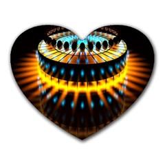 Abstract Led Lights Heart Mousepads by Simbadda
