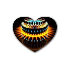 Abstract Led Lights Rubber Coaster (heart)  by Simbadda