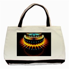 Abstract Led Lights Basic Tote Bag (two Sides) by Simbadda