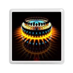 Abstract Led Lights Memory Card Reader (square)  by Simbadda
