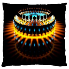 Abstract Led Lights Large Cushion Case (two Sides) by Simbadda