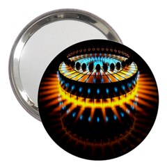 Abstract Led Lights 3  Handbag Mirrors by Simbadda