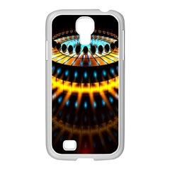 Abstract Led Lights Samsung Galaxy S4 I9500/ I9505 Case (white) by Simbadda