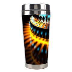 Abstract Led Lights Stainless Steel Travel Tumblers by Simbadda