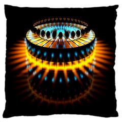 Abstract Led Lights Large Flano Cushion Case (two Sides) by Simbadda