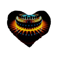 Abstract Led Lights Standard 16  Premium Flano Heart Shape Cushions by Simbadda