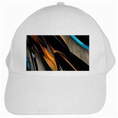 Abstract 3d White Cap by Simbadda